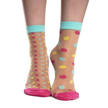 Good Mood Nylon Sokken Stippen Wereld