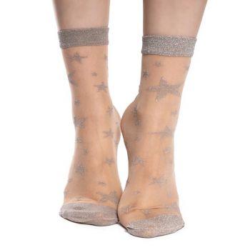 Good Mood Nylon Sokken Zilveren Sterren